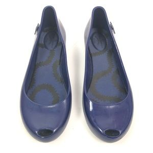 vivienne westwood melissa blue Peep Toe shoes 8
